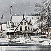 Boathouse Snow Poster