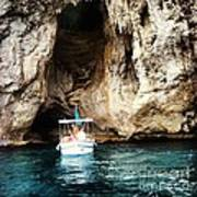 Boating In The Grotto Poster by H Hoffman