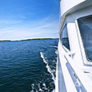 Boating On Lake Poster