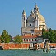 Boating Past Basilica Di Santa Maria Della Salute  Poster