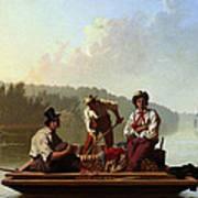 Boatmen On The Missouri Poster