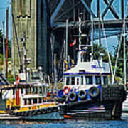 Boats And Tugs Hdrbt3221-13 Poster