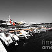 Boats At Brindisi Poster