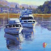 Boats At Merimbula Australia  Poster