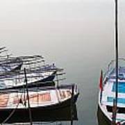 Boats At Sangam Poster
