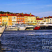 Boats At St.tropez Harbor Poster by Elena Elisseeva
