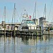 Boats At The Marina Poster