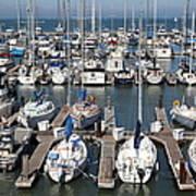 Boats At The San Francisco Pier 39 Docks 5d26009 Poster