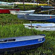Boats In Marsh - Cape Neddick - Maine Poster