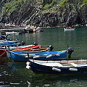Boats In Vernazza Poster