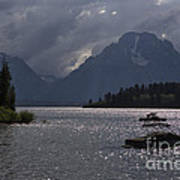 Boats On Jackson Lake - Grand Tetons Poster