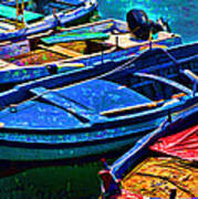 Boats Snuggling - Sicily Poster