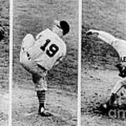Bob Feller Pitching Poster