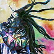 Bob Marley Singing Portrait.1 Poster