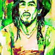 Bob Marley Watercolor Portrait.9 Poster