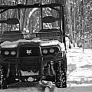 Bobcat Atv In Winter Poster