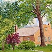 Bockrath-weise House Impressionistic Oil Painting Poster