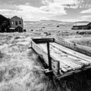Bodie Ghost Town In Black And White Poster