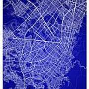Bogota Street Map - Bogota Colombia Road Map Art On Colored Back Poster