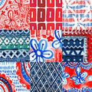 Boho Americana- Patchwork Painting Poster
