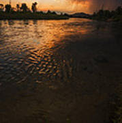 Boise River Dramatic Sunset Poster