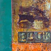 Book Cover Encaustic Poster