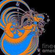 Bold Energy Abstract Digital Art Prints Poster