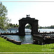 Boldt Castle Entry Arch Poster by Rose Santuci-Sofranko