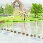 Bolton Abbey Poster by Bav Patel