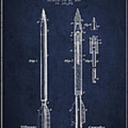 Bomb Lance Patent Drawing From 1885 Poster