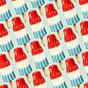 Bomb Pop Pattern Poster by Kelly Gilleran