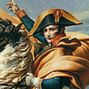 Bonaparte Crossing The Alps Oil On Canvas Detail Of 18491 Poster