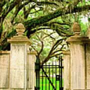 Bonaventure Gate Savannah Ga Poster
