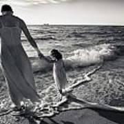 Bonding In The Surf Poster