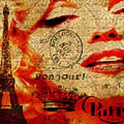 Bonjour Marilyn Poster