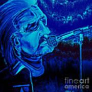 Bono In Blue Poster