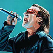 Bono Of U2 Painting Poster