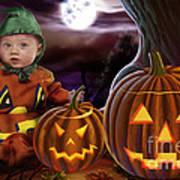Boo Baby Pumpkins Poster
