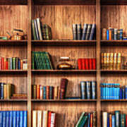 Book Shelf Poster
