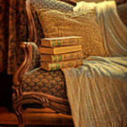 Books On Victorian Sofa Poster