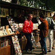 Bookstalls On Left Bank Poster