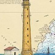 Boon Island Lighthouse Me Chart Art Cathy Peek Poster