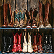 Boot Rack Poster by Olivier Le Queinec