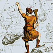 Bootes Constellation, 1687 Poster