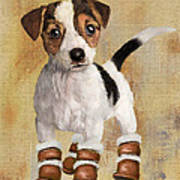 Boots For Baxter Poster