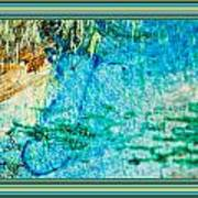 Borderized Abstract Ocean Print Poster