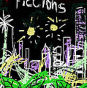 Borges Fictions Poster  Poster