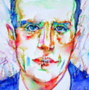 Boris Vian - Colored Pens Portrait Poster