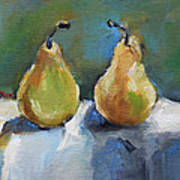 Bosc Pears Poster by Becky Kim
