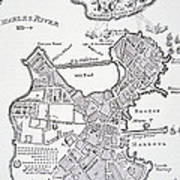Boston And Bunker Hill 1781 Poster by American School